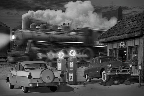 Steam Locomotives Photograph - The Pumps by Mike McGlothlen