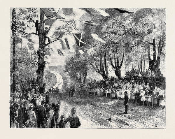Epping Wall Art - Drawing - The Queens Visit To Epping Forest The Royal Procession by English School