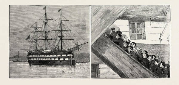 Wall Art - Drawing - The Race At Greenhithe Between Naval Cadets Of H.m by English School