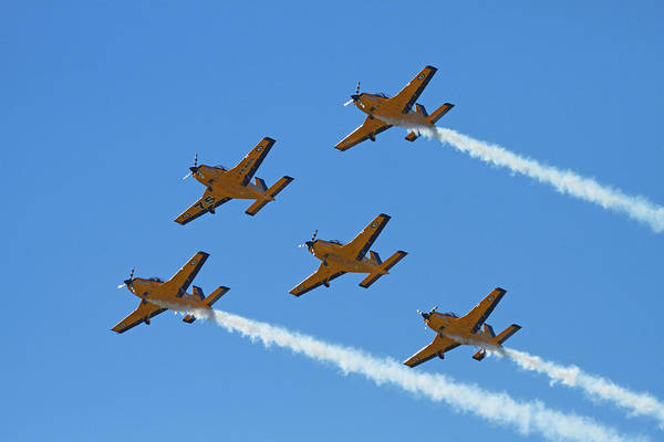 Airshow Photograph - The Red Checkers Aerobatic Display Team by David Wall