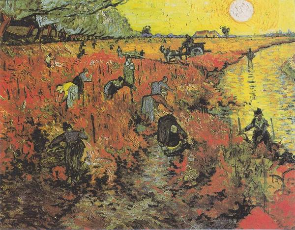 Painting - The Red Vineyard At Arles by Celestial Images