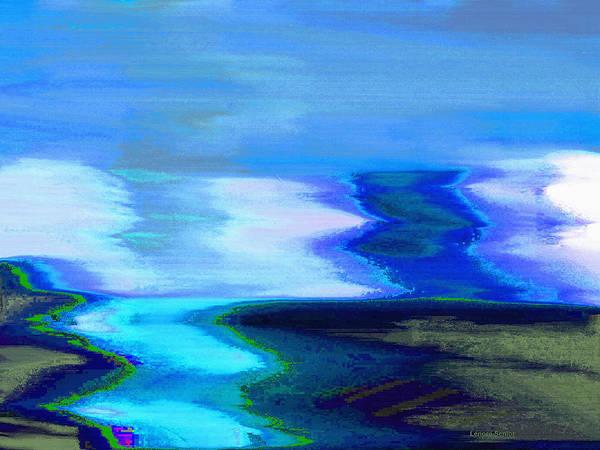 River Scene Mixed Media - The River by Lenore Senior