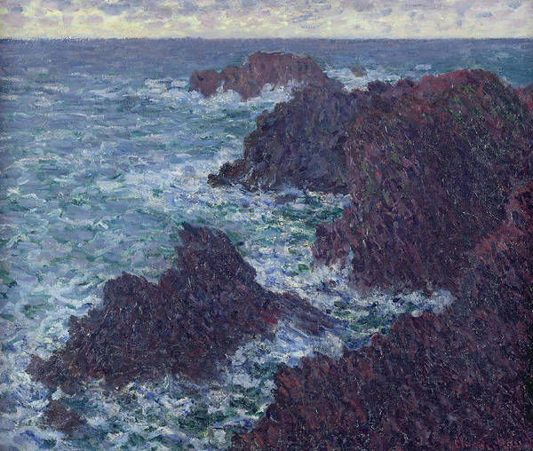 Wall Art - Painting - The Rocks At Belle-ile by Claude Monet