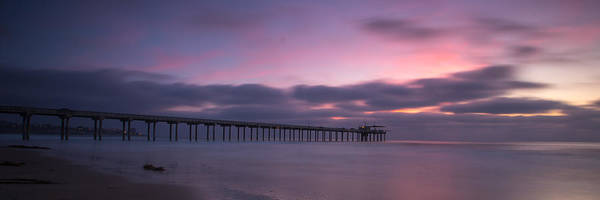 Big Sky Photograph - The Scripps Pier by Peter Tellone