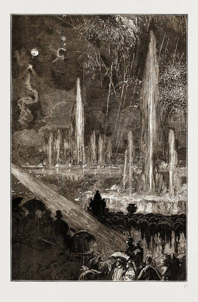 Fireworks Drawing - The Shah Of Persia Iran At The Crystal Palace London Uk 1873 by Litz Collection