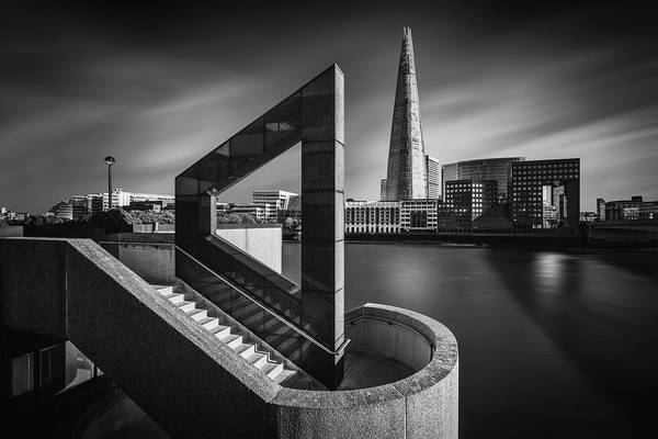 Columns Photograph - The Shard In Geometry by Nader El Assy