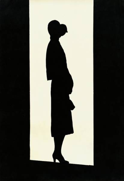Silhouette Photograph - The Silhouette Of A Woman by  Barre