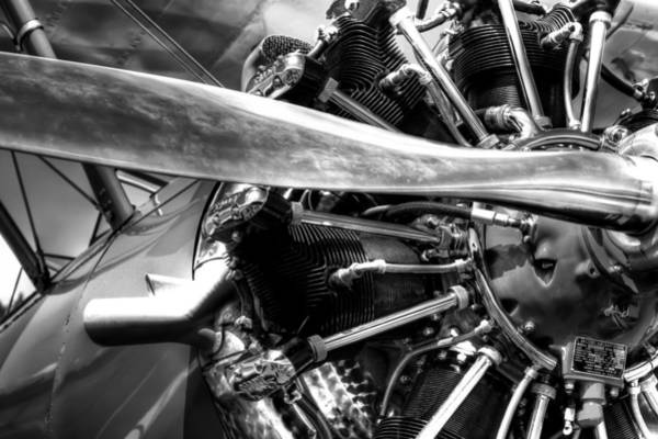 Photograph - The Stearman Jacobs Aircraft Engine by David Patterson