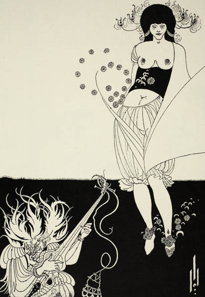 Exotic Drawing - The Stomach Dance by Aubrey Beardsley