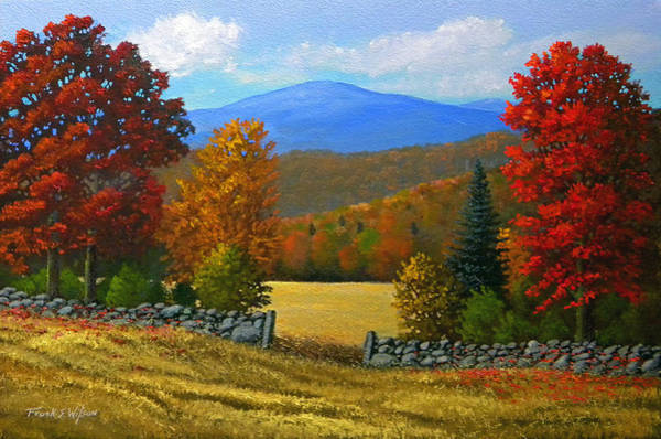 Painting - The Stone Gate In Autumn by Frank Wilson