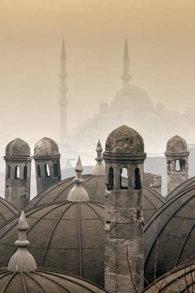 Wall Art - Photograph - The Suleymaniye Mosque And New Mosque In The Backround by Ayhan Altun