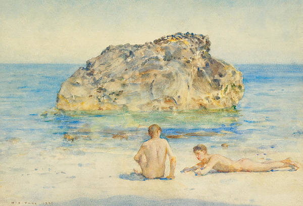 Wall Art - Painting - The Sunbathers by Henry Scott Tuke