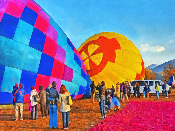 Digital Art - The Taos Mountain Balloon Rally 2 by Digital Photographic Arts