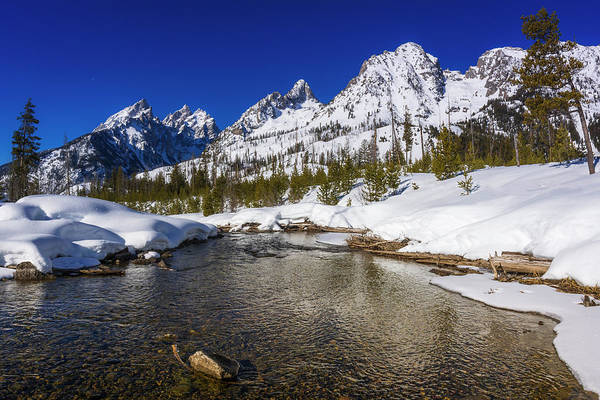 Untamed Photograph - The Tetons In Winter Above Cottonwood by Russ Bishop