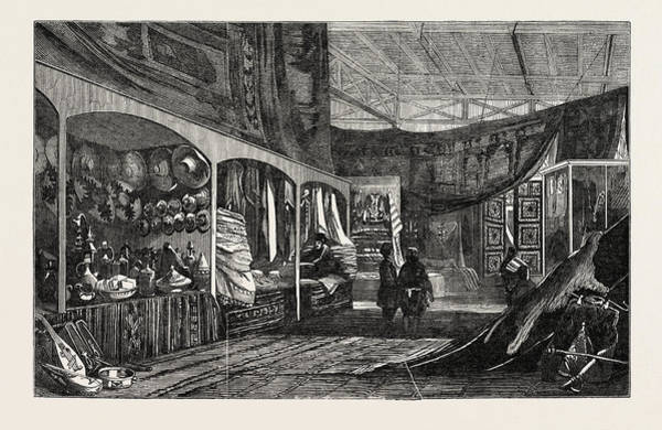 Royal Court Drawing - The Tunis Court, Crystal Palace, The Great Exhibition by English School