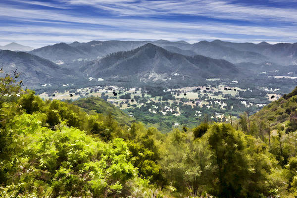 Digital Art - The View by Photographic Art by Russel Ray Photos