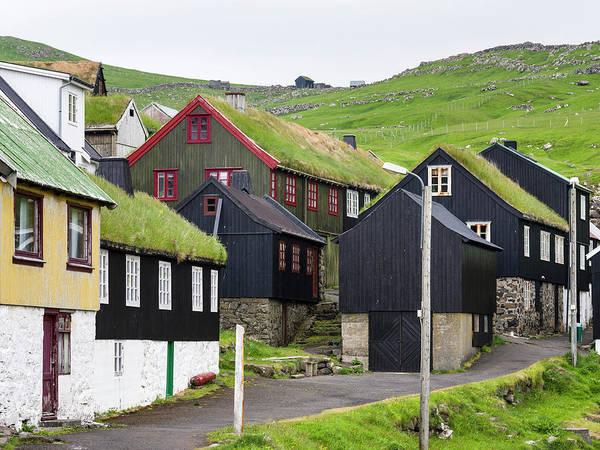 Archipelago Photograph - The Village On Island Mykines, Part by Martin Zwick