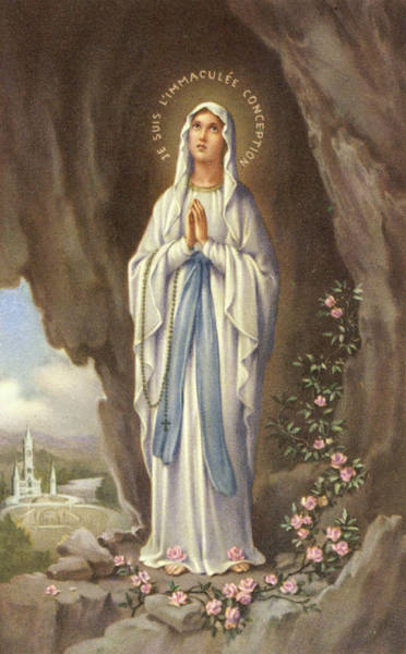 Notre Dame Drawing - The Virgin Mary As Supposedly  Seen by Mary Evans Picture Library