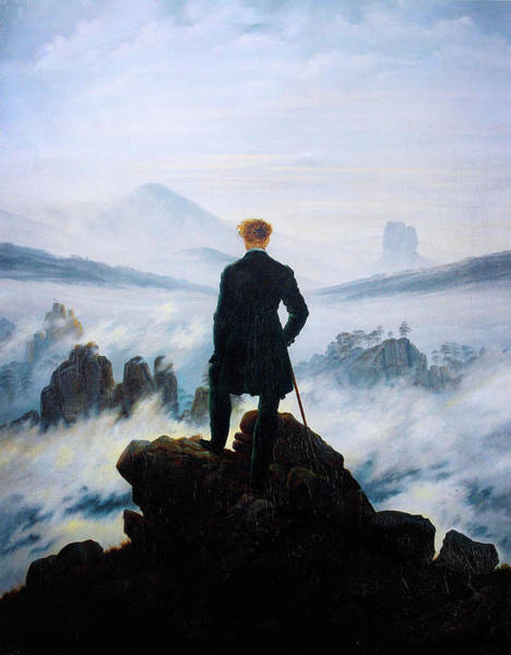 Wall Art - Painting - The Wanderer Above The Sea Of Fog by Celestial Images