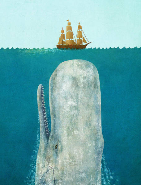 Tall Ships Wall Art - Painting - The Whale  by Terry  Fan
