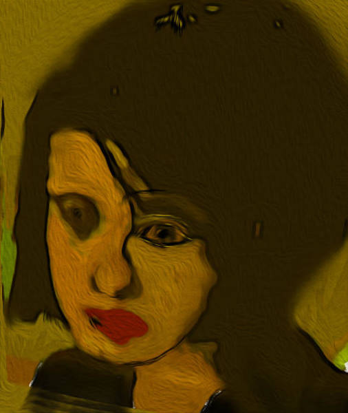 Wall Art - Painting - The Widow by Noredin Morgan