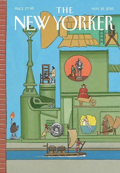 The New Yorker Painting - The World Tomorrow by Bruce McCall
