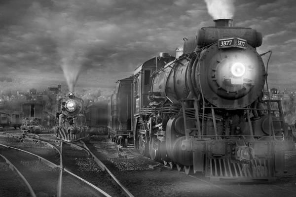 Steam Locomotives Photograph - The Yard by Mike McGlothlen