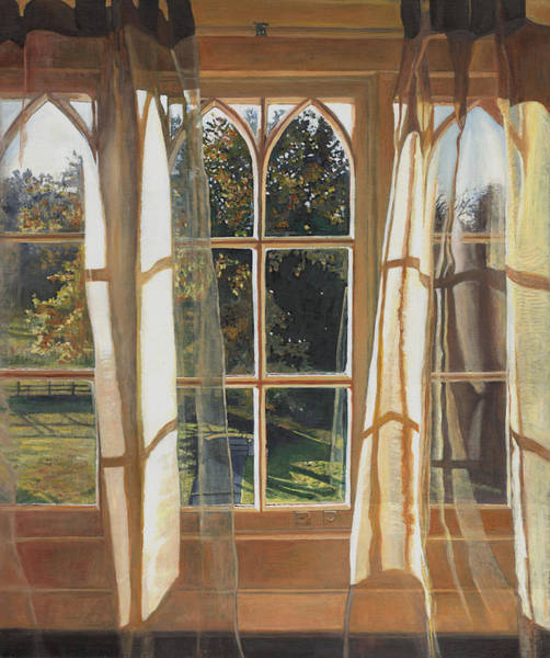 Drapes Painting - The Yellow Window by Helen White
