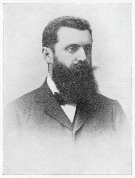 Wall Art - Drawing - Theodor Herzl  Hungarian Zionist Leader by Mary Evans Picture Library
