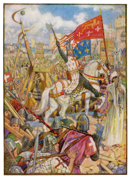 Wall Art - Drawing - Third Crusade Richard I, After Taking by Mary Evans Picture Library