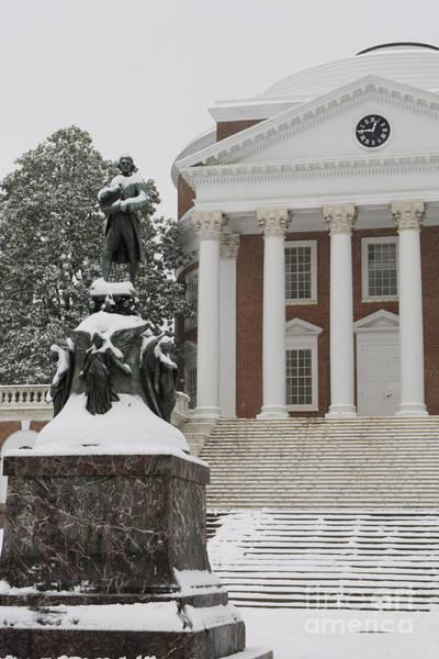 Wall Art - Photograph - Thomas Jefferson And The Rotunda In The Snow by Jason O Watson