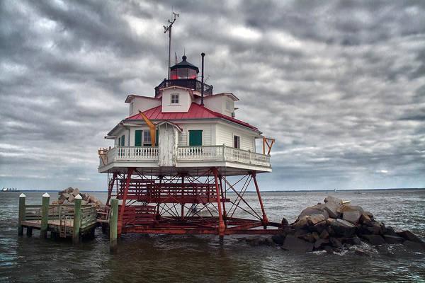 Chesapeake Bay Photograph - Thomas Point Lighthouse by Robert Fawcett