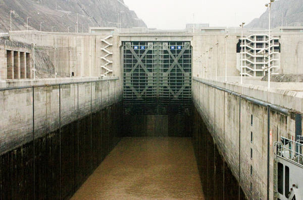 Spillway Photograph - Three Gorges Dam by David Taylor/science Photo Library