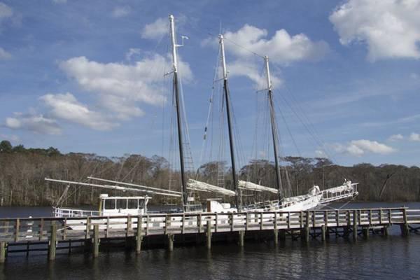 Photograph - Three Mast Sailboat by Ralph Jones