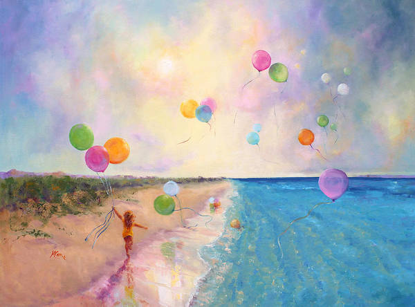 Whimsical Wall Art - Painting - Tide Of Dreams by Marie Green