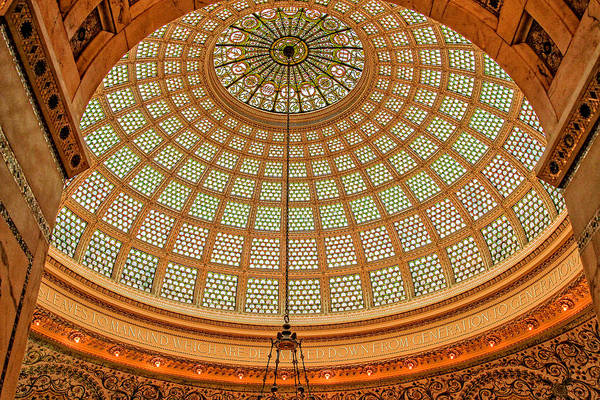 Photograph - Tiffany Dome Chicago Cultural Museum by Eleanor Abramson