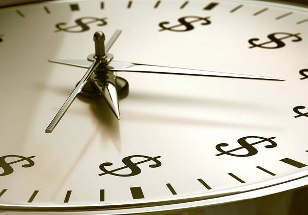 One Dollar Photograph - Time Is Money by Ktsdesign