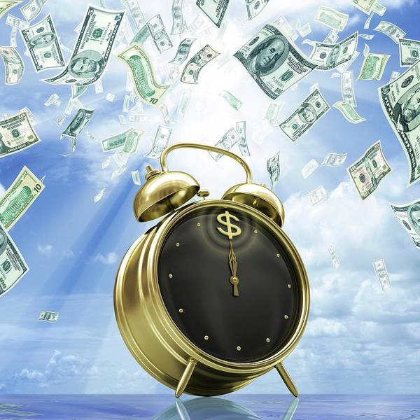 Alarm Clock Photograph - Time Is Money by Ktsdesign/science Photo Library