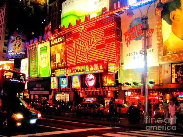 Photograph - Times Square - New York by Doc Braham