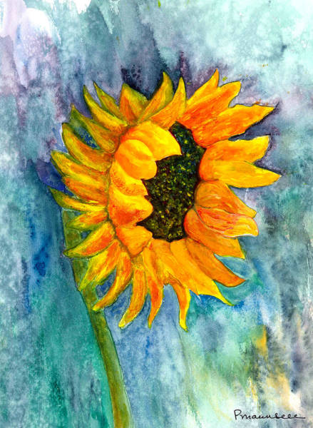 Wall Art - Painting - Tina's Sunflower by Peggy Maunsell