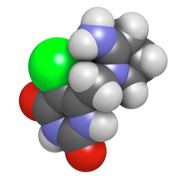 Tipiracil Cancer Drug Molecule Art Print