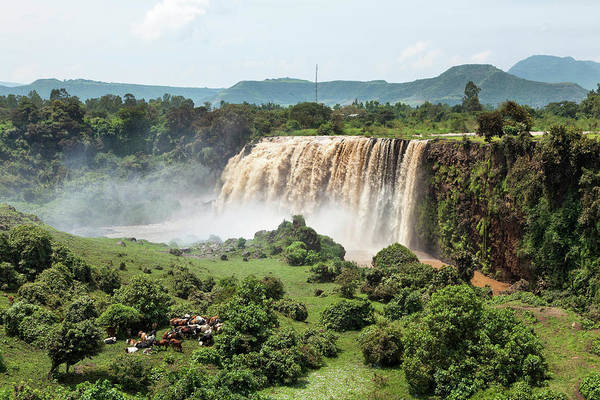 Amhara Photograph - Tis Isat, The Waterfall Of The Blue by Martin Zwick