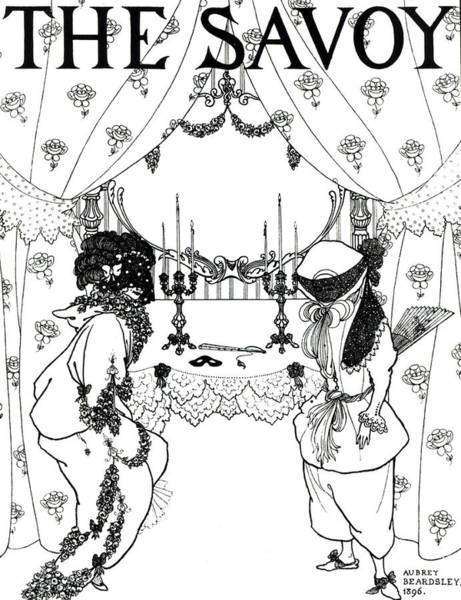 Theatrical Painting - Title Page From The Savoy by Aubrey Beardsley