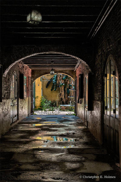 Photograph - To The Courtyard by Christopher Holmes