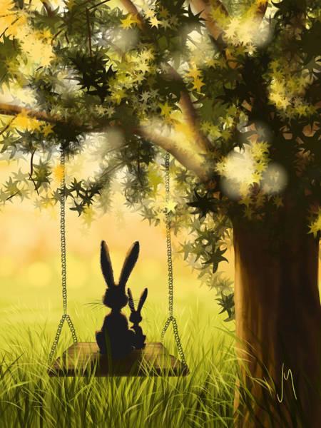 Grass Tree Digital Art - Together by Veronica Minozzi