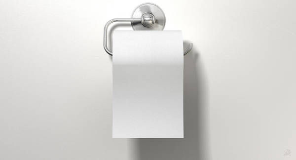 Wall Art - Digital Art - Toilet Roll On Chrome Hanger by Allan Swart