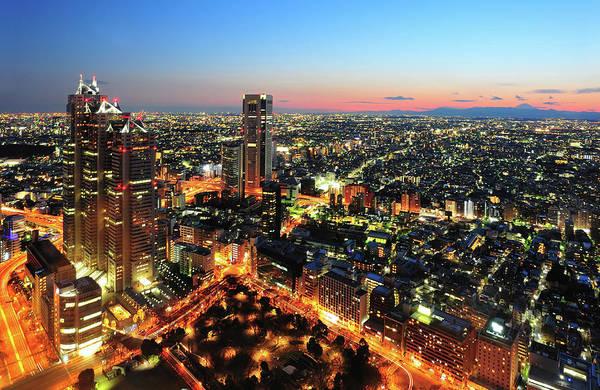 Japan Photograph - Tokyo City At Twilight by Japan