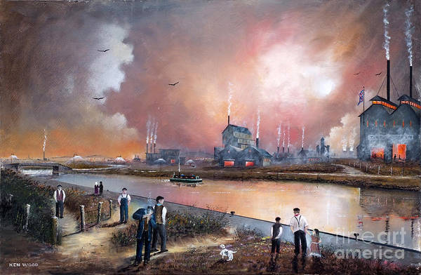 Painting - Toll End Communication Canal by Ken Wood