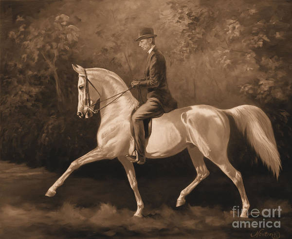 Wall Art - Painting - Tom Bass And Columbus by Jeanne Newton Schoborg