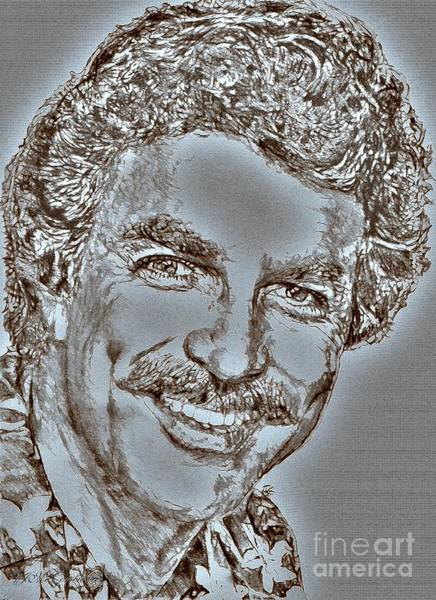 Moustache Mixed Media - Tom Selleck In 1984 by J McCombie